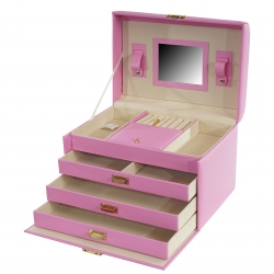 Kufřík na šperky Paris, růžový