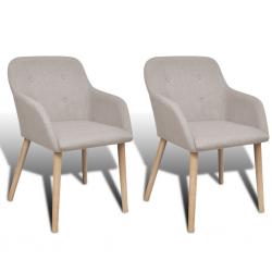 Sada dvou jídelních židlí Cannes