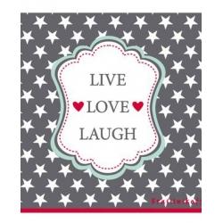Papírové ubrousky Love Love Laugh